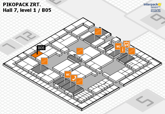 Interpack 2014 - Hall 7 map
